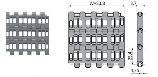 конвейерная модульная лента