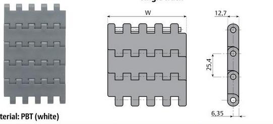 модульная транспортерная лента с позитреками