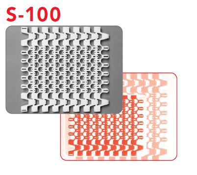 поворотные пищевые модульные ленты s-100